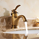 cheap Bathroom Shelves-Bathroom Sink Faucet - Waterfall Antique Brass Centerset Single Handle One Hole