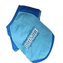 preiswerte Hundekleidung-Hund T-shirt Hundekleidung Buchstabe & Nummer Blau Nylon Kostüm Für Haustiere Herrn Modisch
