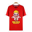 baratos Moletons Estampa de Anime-Inspirado por One Piece Roronoa Zoro Anime Fantasias de Cosplay Cosplay T-shirt Estampado Manga Curta Blusa Para Homens Mulheres