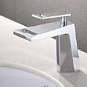 povoljno Slavine za umivaonik-kupaonica sudoper slavina - vodopad krom terasa montiran jednom rukohvat jednom rupu kupka slavine