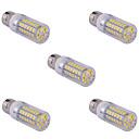 olcso LED kukorica alakú izzók-YWXLIGHT® 5pcs 15 W 1500 lm E14 / G9 / E26 / E27 LED kukorica izzók T 60 LED gyöngyök SMD 5730 Meleg fehér / Hideg fehér 220 V / 110 V / 5 db.