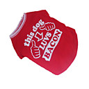 cheap Dog Clothes-Dog Shirt / T-Shirt Dog Clothes Letter & Number Red/White Cotton Costume For Pets Men's Women's Cosplay