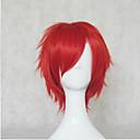 זול תחפושות אנימה-פאות סינתטיות / פאות לתחפושות מתולתל סגנון ללא מכסה פאה אדום כחול שיער סינטטי בגדי ריקוד נשים פאה קצר hairjoy