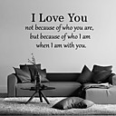 cheap Wall Stickers-Words & Quotes Wall Stickers Plane Wall Stickers Decorative Wall Stickers, Vinyl Home Decoration Wall Decal Wall