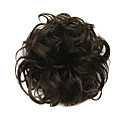 cheap Hair Pieces-Synthetic Wig / chignons Women's Curly / Classic Layered Haircut Synthetic Hair Updo Wig Short Dark Brown