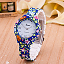 cheap Party Accessories-Women's Fashion Watch Quartz Hot Sale Plastic Band Analog Flower Blue - White Yellow One Year Battery Life / Tianqiu 377