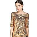 abordables Utensilios de Horno-Mujer Tallas Grandes Lentejuelas - Camiseta Un Color Poliéster