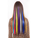 cheap Synthetic Extensions-synthetische colorful clip in hair extensions 1 clips 5color
