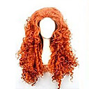 cheap Dog Clothes-Synthetic Wig Curly Asymmetrical Haircut Synthetic Hair Natural Hairline Red Wig Women's Long Capless