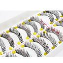 preiswerte Wimpern Accessoires-Auge / Augenwimpern 10pcs Verlängert / Voluminisierung Alltag Make-up / Party Make-up Vollbandwimpern / Kreuz und quer / Dick 1cm-1.5cm