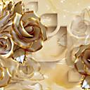 baratos Murais de Parede-Floral Decoração para casa Luxo Revestimento de paredes, Tela de pintura Material adesivo necessário Mural, Cobertura para Paredes de