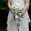 זול פרחי חתונה-פרחי חתונה בצורה חופשיה אשד ורדים זרים חתונה חתונה/ אירוע סאטן משי