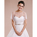 cheap Wedding Wraps-Sleeveless Tulle Wedding / Party Evening Wedding  Wraps With Shrugs