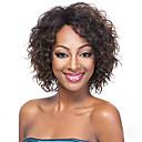 olcso Férfi csizmák-Szintetikus parókák Női Göndör Barna Szintetikus haj Afro-amerikai paróka Barna Paróka Rövid Sapka nélküli Barna