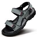 ieftine Sandale Bărbați-Bărbați Pantofi Nappa Leather Primăvară Vară Confortabili pentru De Atletism Casual Birou și carieră În aer liber Rochie Negru Gri Maro