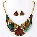 baratos Brincos-Mulheres Geométrica Conjunto de jóias - Importante, Vintage, Europeu Incluir Colar / Brincos Arco-Íris Para Festa / Diário / Casual / Colares