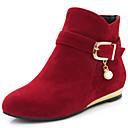 abordables Sandalias de Hombre-Mujer Zapatos Semicuero Otoño / Invierno Tacón Bajo 10.16-15.24 cm / Botines / Hasta el Tobillo Cremallera Negro / Amarillo / Rojo