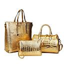 baratos Conjunto de Bolsas-Mulheres Bolsas PU Tote / Capa Prootetora / Conjuntos de saco 3 Pcs Purse Set Azul Escuro / Vermelho / Azul Claro
