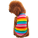 cheap Dog Clothes-Cat Dog Shirt / T-Shirt Dog Clothes Stripe Rainbow Cotton Costume For Pets Men's Women's Fashion