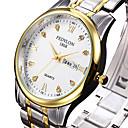 abordables Relojes de Moda-Mujer Reloj de Pulsera Calendario / Cool Acero Inoxidable Banda Lujo / Moda / Reloj de Vestir Plata / Un año / SSUO 377