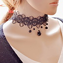 cheap Necklaces-Women's Beads Choker Necklace / Pendant Necklace / Tattoo Choker - Lace Tattoo Style, Fashion Black Necklace For Party, Daily, Casual