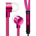 tanie Słuchawki i zestawy słuchawkowe-Douszny Przewodowy / a Słuchawki Stop aluminium Telefon komórkowy Słuchawka Z kontrolą głośności Zestaw słuchawkowy