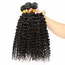 billige Syntetiske parykker uden hætte-3 Bundler Mongolsk hår Afro / Klassisk / Krøllet væv Jomfruhår Menneskehår, Bølget Menneskehår Vævninger Menneskehår Extensions / Kinky Krøller