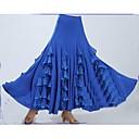 cheap Latin Dance Wear-Ballroom Dance Bottoms Women's Performance Polyester / Milk Fiber Draping / Cascading Ruffle Sleeveless Dropped Skirt