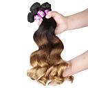 baratos Edredons de Luxo-4 pacotes Cabelo Brasileiro Ondulação Larga Cabelo Virgem Âmbar Tramas de cabelo humano Extensões de cabelo humano