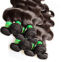 cheap LED Bi-pin Lights-Weft Human Hair Extensions Body Wave Virgin Human Hair Human Hair Indian Hair Women's - Natural Black