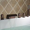 رخيصةأون حنفيات الحمام-حنفية حوض الاستحمام - زهري / تقليدي برونز مفروك بزيت الحوض الروماني صمام سيراميكي