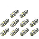 billige Interiørlamper til bil-10pcs BA9S Bil Elpærer 1 W SMD 5050 120 lm 5 LED Blinklys For Universell