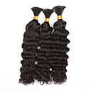cheap Natural Color Hair Weaves-Brazilian Hair Deep Wave / Curly Weave Natural Color Hair Weaves 3 Bundles Human Hair Weaves Black Human Hair Extensions