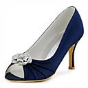 preiswerte Hochzeitsschuhe für Damen-Damen Schuhe Stretch - Satin Frühling / Sommer Sandalen Stöckelabsatz Kristall Dunkelblau / Rosa / Königsblau / Hochzeit