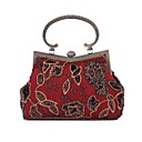 cheap Clutches & Evening Bags-Women's Bags Chiffon / Polyester Evening Bag Sequin Black / Wine