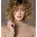 cheap Synthetic Capless Wigs-women s fashion gold blonde mix short curly synthetic wigs for women