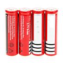 preiswerte Taschenlampen-18650 Batterie Wiederaufladbare Lithium-Ionen Batterie 4200.0 mAh 4pcs Wiederaufladbar für Camping / Wandern / Erkundungen