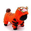 cheap Dog Clothes-Cat Dog Costume Jumpsuit Dog Clothes Cartoon Orange Plush Fabric Costume For Pets Men's Women's Cute Holiday Cosplay