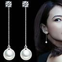 billige Smykkesett-Dame Perle Dråpeøreringer - Perle, Imitert Perle Enkel Stil, Elegant, Brude Sølv Til Bryllup Fest Daglig