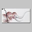 billige Blomster-/botaniske malerier-Hang malte oljemaleri Håndmalte - Dyr Moderne Med Ramme