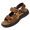 cheap Men's Sandals-Men's Shoes Nappa Leather Spring Summer Comfort Hollow-out for Athletic Casual Office & Career Outdoor Dress Brown