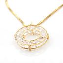 זול שרשרת אופנתית-בגדי ריקוד נשים זירקונה מעוקבת שרשראות תליון - זירקון אופנתי זהב שרשראות תכשיטים עבור יומי, ליציאה