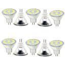 cheap LED Bi-pin Lights-GU4(MR11) Decoration Light MR11 15 SMD 5730 480lm Warm White Cold White 3000-6000K Decorative 9-30V