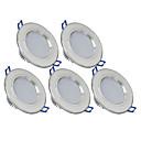baratos Luzes LED de Encaixe-270 lm 6 Contas LED Instalação Fácil Encaixe Downlight de LED Branco Quente Branco Frio 85-265 V Lar / Escritório Quarto de Criança Cozinha / 5 pçs / CE