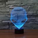 baratos Brincos-1 Pça. Luz noturna 3D USB Regulável 5 V
