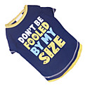 cheap Dog Clothes-Dog Shirt / T-Shirt Dog Clothes Letter & Number Blue / Yellow Cotton Costume For Summer