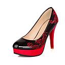 halpa Naisten korkokengät-Naisten Kengät PU Kevät Kesä Club Kengät Välkkyvät kengät Korkokengät Kävely Stilettikorko Korokekengät Pyöreä kärkinen Kukkakuvio varten