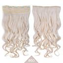 billiga Syntetisk hårförlängning-Syntetiskt hår HÅRFÖRLÄNGNING Vågigt Klämma in Dagligen Hög kvalitet