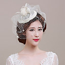 cheap Party Headpieces-Tulle / Basketwork / Net Fascinators with Flower 1pc Wedding / Special Occasion / Casual Headpiece
