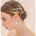 cheap Party Headpieces-Pearl Crystal Headwear Hair Pin Hair Stick with Floral 1pc Wedding Special Occasion Headpiece